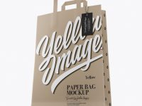 Kraft Bag w/ Label Mockup - Half Side View