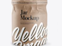 Jar in Kraft Paper Wrap Mockup