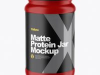 Matte Protein Jar Mockup (High-Angle Shot)