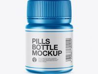 Matte Metallic Pills Bottle Mockup