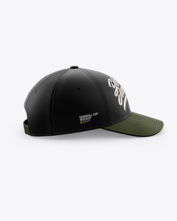Baseball Cap Mockup - Side View
