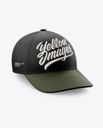 Baseball Cap Mockup - Half Side View