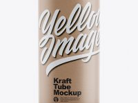 Kraft Tube Mockup - Front View