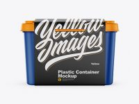 Matte Plastic Container w/ Label Mockup - Front View