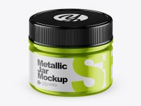 Metallic Jar Mockup (High-Angle Shot)
