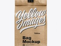 Kraft Coffee Bag With Clip Mockup - Front View