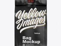 Matte Coffee Bag With Clip Mockup - Front View