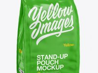 Stand Up Glossy Pouch - Half Side View
