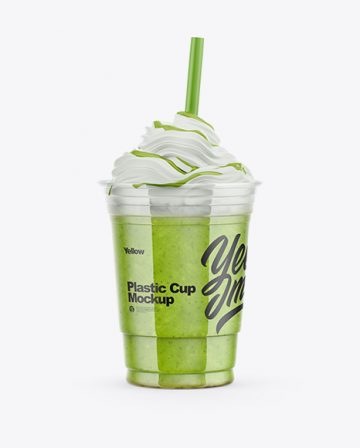 Green Smoothie Cup Mockup