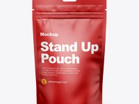 Matte Stand-Up Pouch w/ Zipper Mockup - Front View