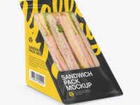Sandwich Pack Mockup - Half Side View