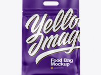 Matte Stand-up Food Bag Mockup