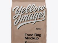 Kraft Stand-up Food Bag Mockup - Front View