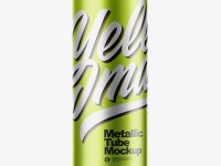 Metallic Tube Mockup