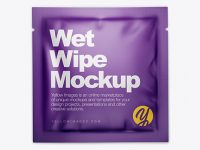 Matte Wet Wipe Pack Mockup - Top View