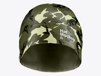 Glossy Hat Mockup - Front View