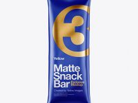 Matte Snack Bar Mockup - Front View