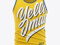 Men's Jersey Tank Top Mockup - Front View