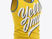Men's Jersey Tank Top Mockup - Front Half Side View
