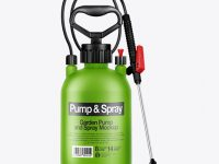 Garden Pump and Spray Mockup - Front View