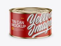 Tin Can Mockup - Front View (High-Angle Shot)