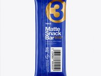 Matte Snack Bar Mockup - Back View