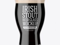 Revival Glass With Irish Stout Beer Mockup