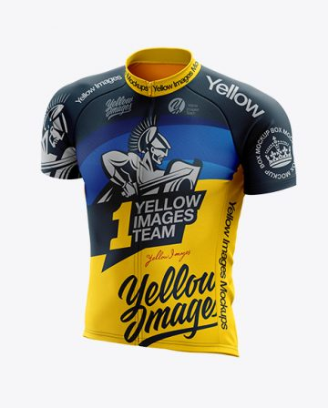 Men's Classic Cycling Jersey mockup (Half Side View)