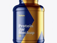 5lb Protein Jar in Metallic Shrink Sleeve Mockup