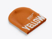 Beanie Hat Mockup - Half Side View (High-Angle Shot)