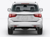 Full-Size Luxury SUV Mockup - Back View