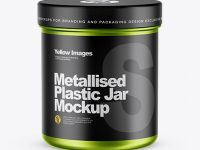 Matte Metallic Jar Mockup - Front View (High-Angle Shot)