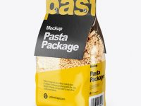 Spighe Pasta with Paper Label Mockup - Half Side View