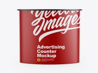 Matte Advertising Counter Mockup - Front View