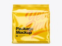 Glossy Package Mockup - Front View
