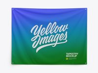 Home Decor Wall Tapestry Mockup