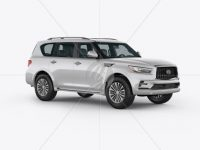 Full-Size Luxury SUV Mockup - Half Side View