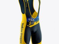 Men's Cycling Bib Shorts Mockup - Half Side View