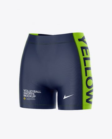 Women's Volleyball Shorts Mockup - Front Half Side View