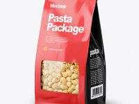 Paper Bag with Pipe Doppia Pasta Mockup - Half Side View