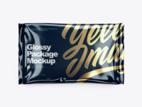 Glossy Package Mockup - Top View