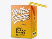 Carton Package with Straw Mockup