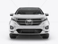 SUV Сrossover Mockup - Front View