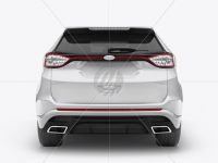 SUV Сrossover Mockup - Back View