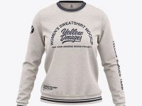 Women's Heather Crew Neck Sweatshirt - Front View