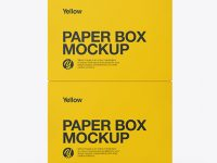 Two Paper Boxes Mockup