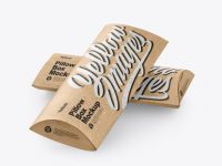 Two Kraft Paper Pillow Boxes Mockup