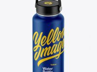 Matte Wide-Mouth Water Bottle Mockup
