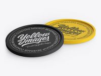 Two Textured Beverage Coasters Mockup