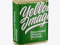 Processed Cheese Pack Mockup